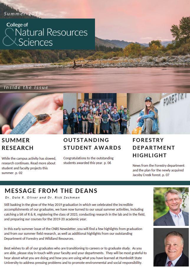 CNRS Summer 2019 Newsletter