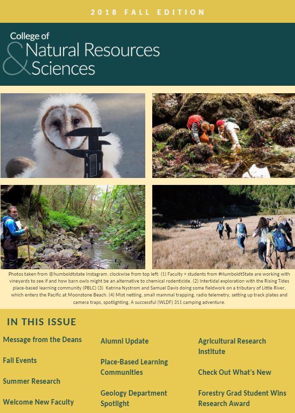 CNRS Fall 2018 Newsletter
